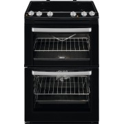 Zanussi ZCV668MN Ceramic Electric Cooker with Double Oven