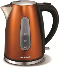 Morphy Richards Coffee Maker Blue : Morphy Richards 102601 Accents Copper Jug Kettle - Buy Online - Marks Electrical