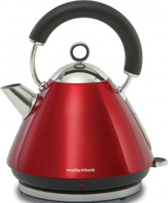 Morphy Richards 43772 Accents Pyramid Red Traditional Kettle