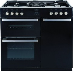 Belling DB4 90DF Black 90cm Dual Fuel Range Cooker