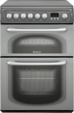 Hotpoint 60HEG Ceramic Electric Cooker with Double Oven