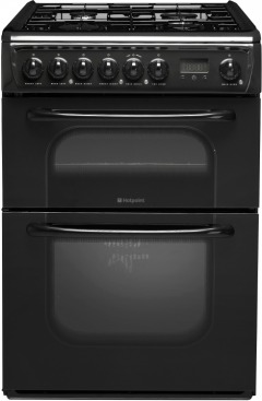 Hotpoint 62DGBK Gas Cooker with Double Oven