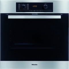 Miele H5240BP CleanSteel Single Built In Electric Oven Pyrolytic