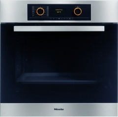 Miele H5461B CleanSteel Single Built In Electric Oven
