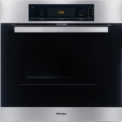 Miele H5681BPL CleanSteel Single Built In Electric Oven Pyrolytic