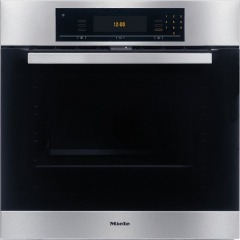 Miele H5681BPR CleanSteel Single Built In Electric Oven Pyrolytic