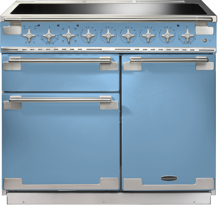 Blue electric range cooker