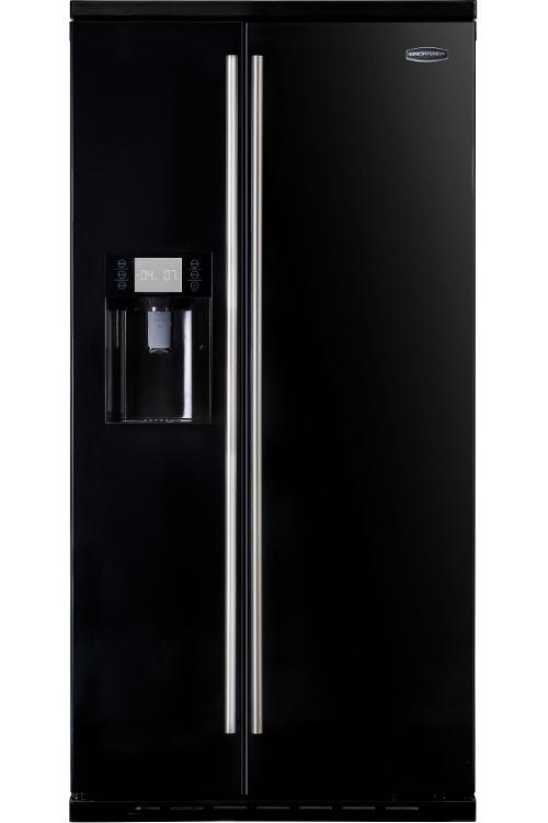 Black american fridge