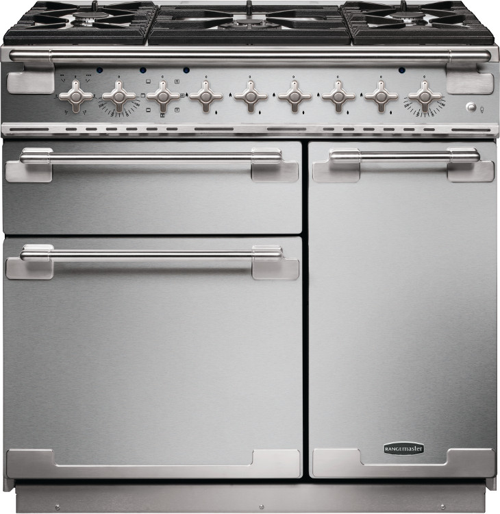 Rangemaster kitchener 90 stainless steel