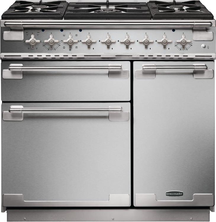 Rangemaster kitchener 90 stainless steel