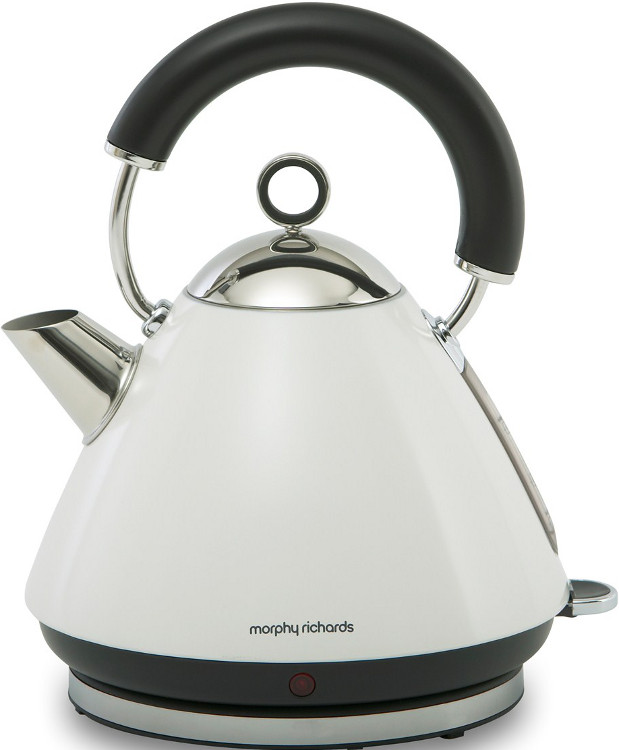 Buy Morphy Richards 43774 Accents Pyramid White Traditional Kettle Marks Electrical