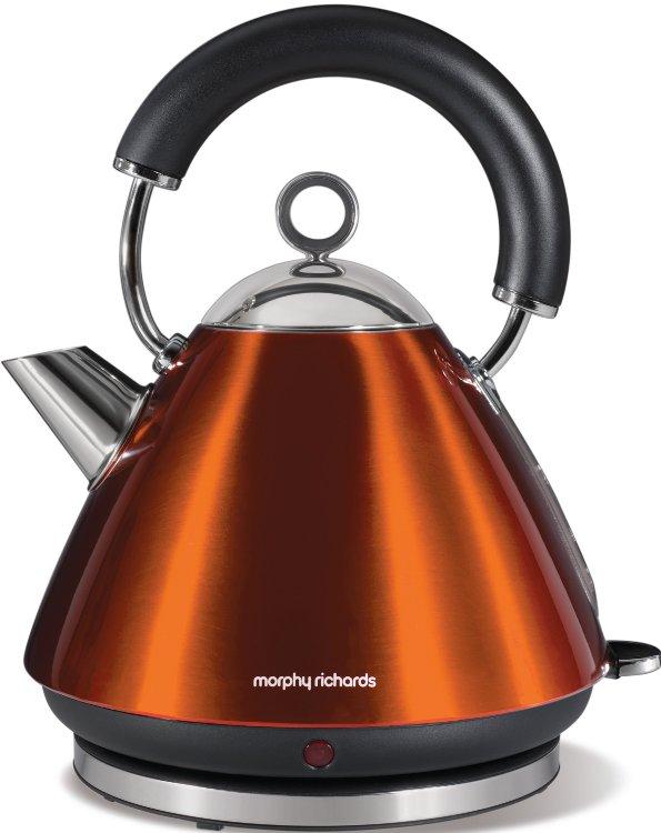 Morphy richards kettle 43778 accents pyramid copper - Bouilloire electrique retro ...