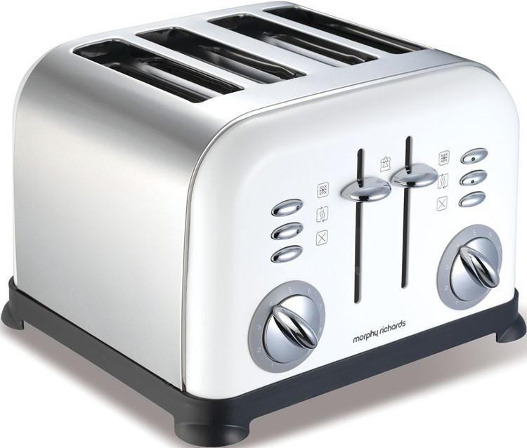 Buy Morphy Richards 44037 Accents Country White Toaster ...