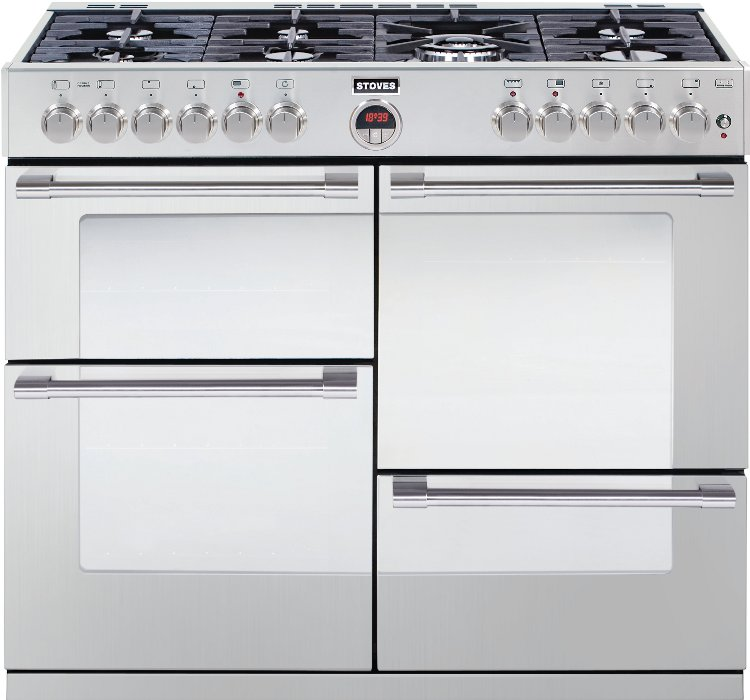 Range dual fuel cookers 100cm