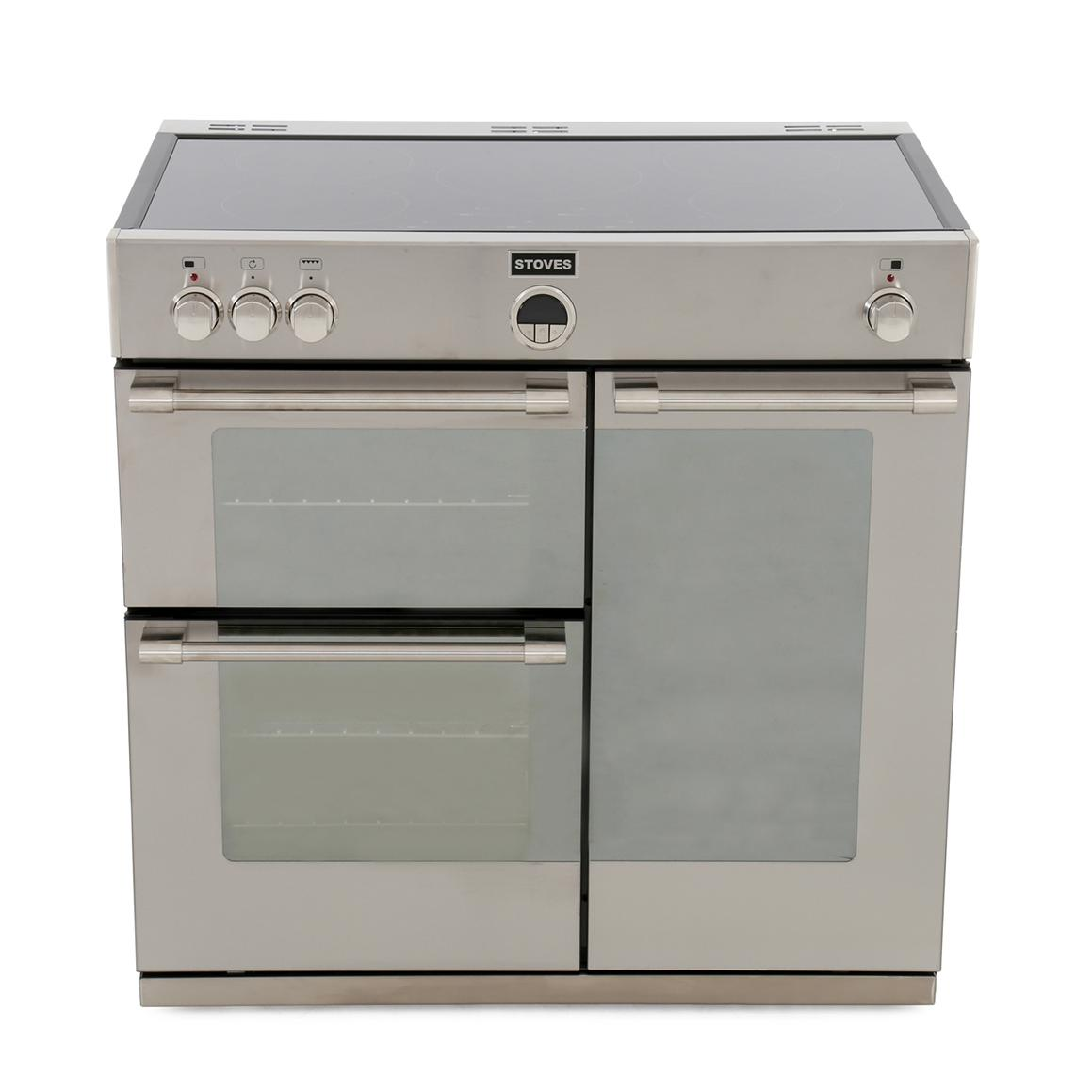 Stoves Sterling 900Ei Stainless Steel 90cm Electric Induction Range Cooker
