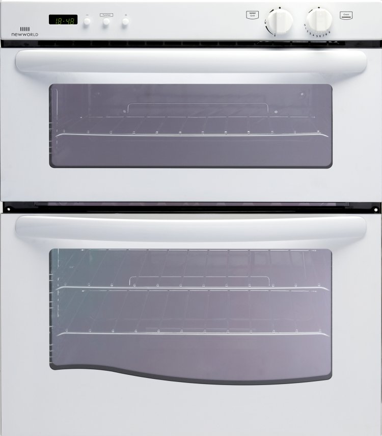 Built under gas double oven with gas grill
