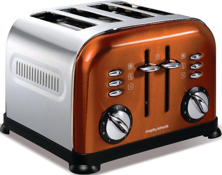 morphy richards 44744 accents copper 4 slice toaster buy. Black Bedroom Furniture Sets. Home Design Ideas