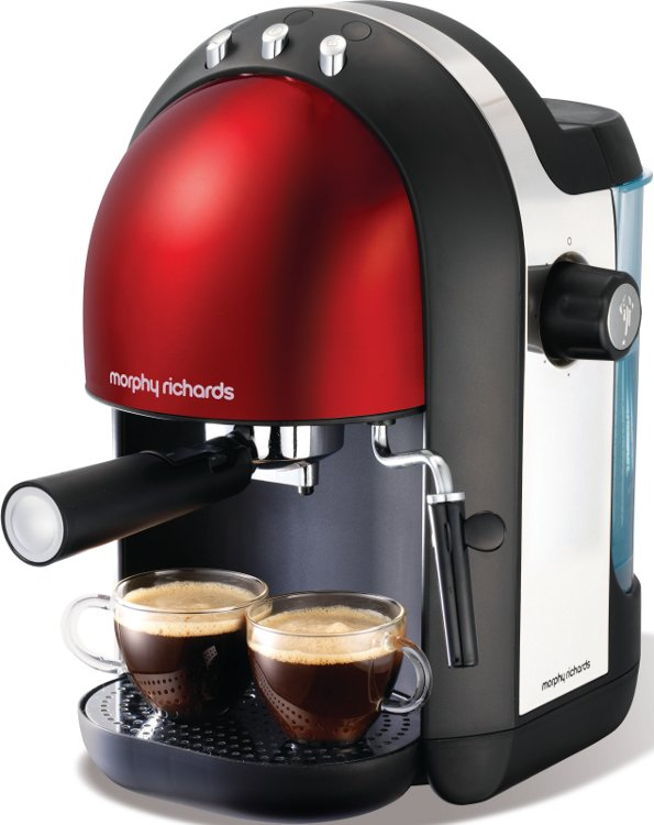 Morphy Richards 47586 Meno Red Espresso Coffee Maker - Buy Online Today - 365 Electrical