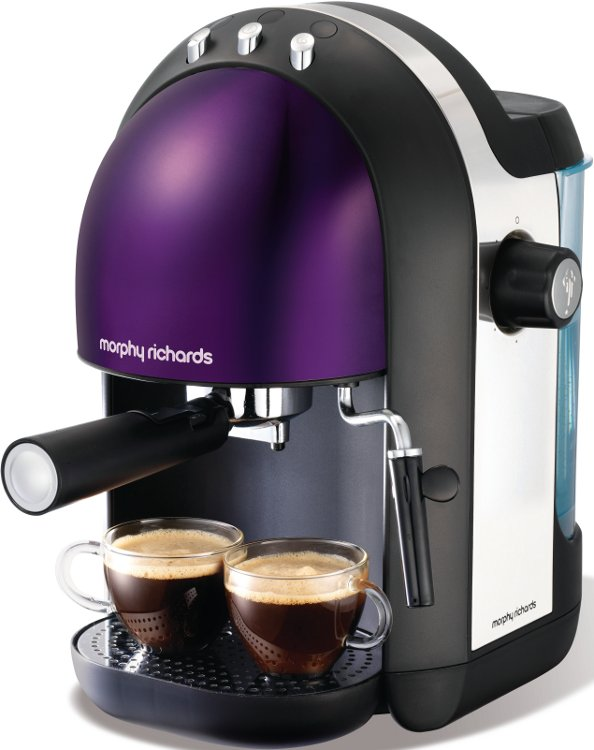 Morphy Richards Meno Coffee Maker : Buy Morphy Richards 47587 Meno Plum Espresso Coffee Maker Marks Electrical