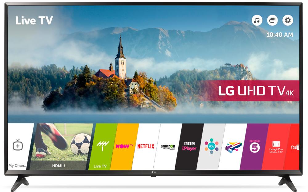 "LG 65UJ630V 65"" 4K Ultra HD Smart Television"