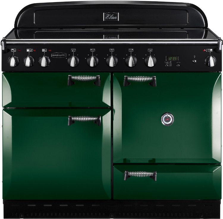 Buy rangemaster elan racing green with chrome trim 110cm electric induction r - Falcon kitchener 90 inox ...