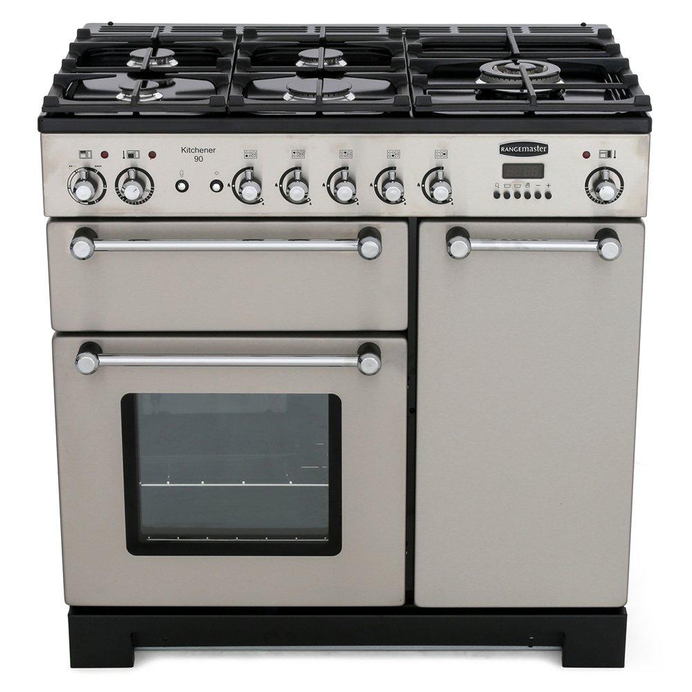buy rangemaster kch90dffss c kitchener stainless steel. Black Bedroom Furniture Sets. Home Design Ideas