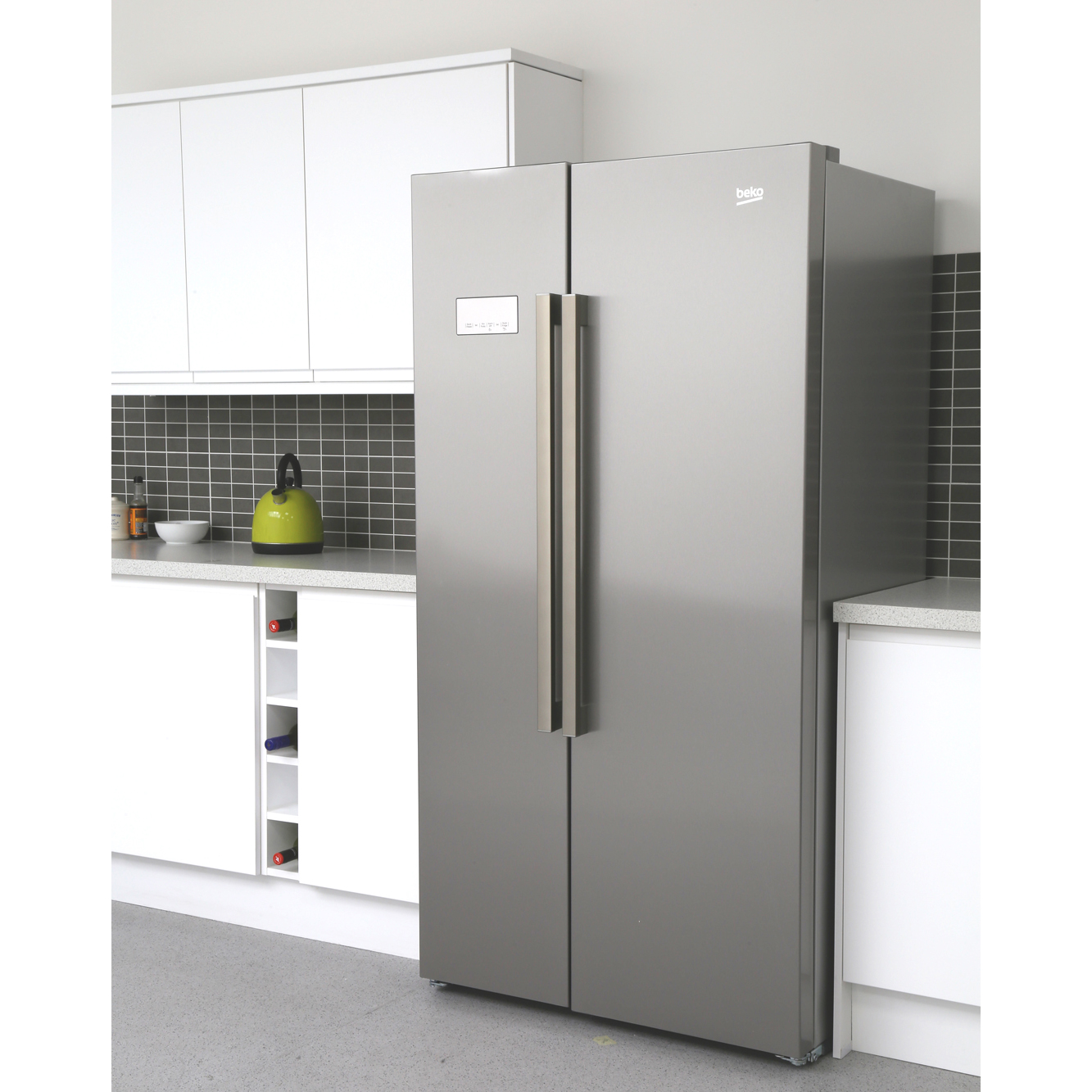 beko asl141x american fridge freezer stainless steel. Black Bedroom Furniture Sets. Home Design Ideas
