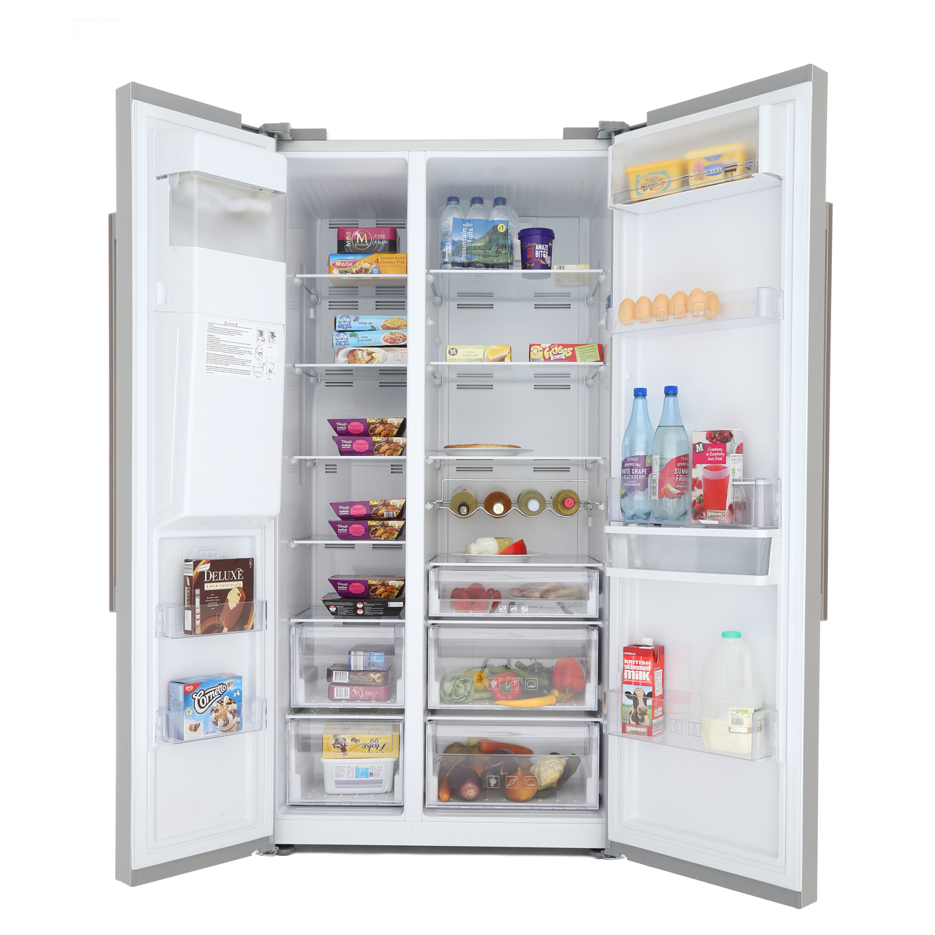 beko asn541s american fridge freezer silver buy online. Black Bedroom Furniture Sets. Home Design Ideas