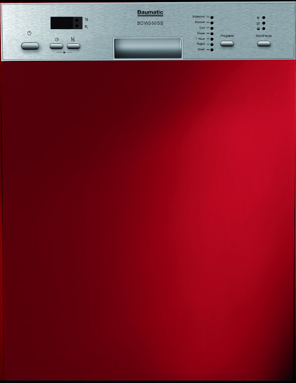 baumatic bdws60ss built in semi integrated dishwasher