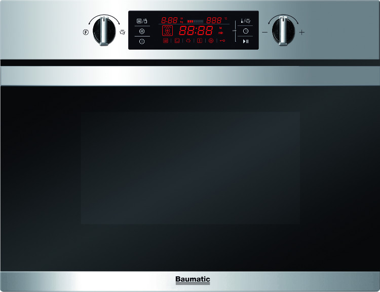 Baumatic BMC450SS Built In Combination Microwave