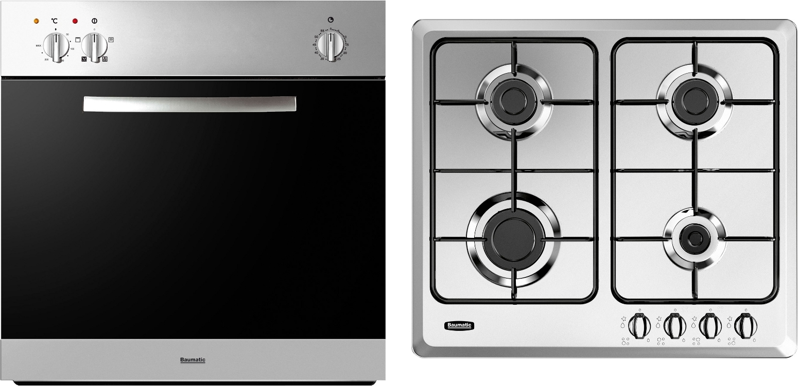 Gas hobs and ovens built in