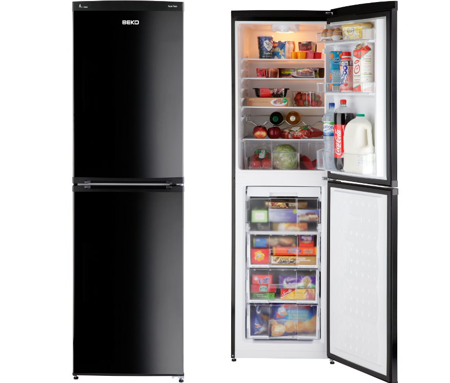 Fridge freezer black frost free