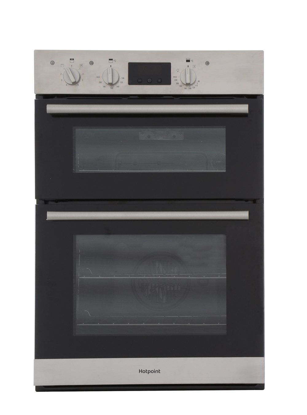 buy hotpoint dd2540ix double built in electric oven stainless hotpoint dd2540ix double built in electric oven