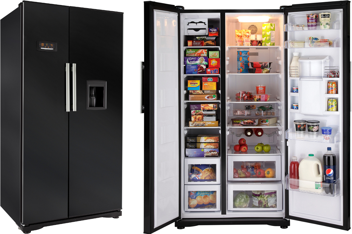 beko gnev221apb american fridge freezer piano black. Black Bedroom Furniture Sets. Home Design Ideas