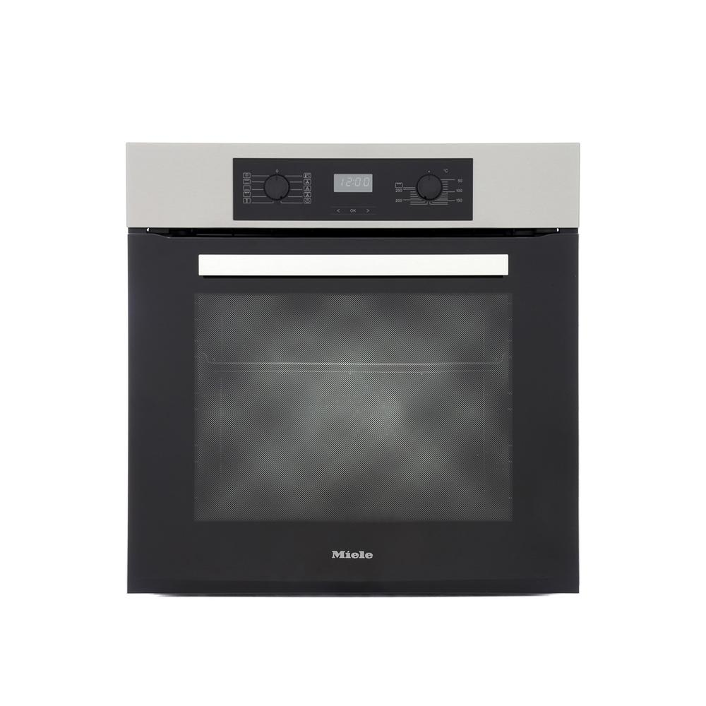 Miele H2265B CleanSteel Single Built In Electric Oven