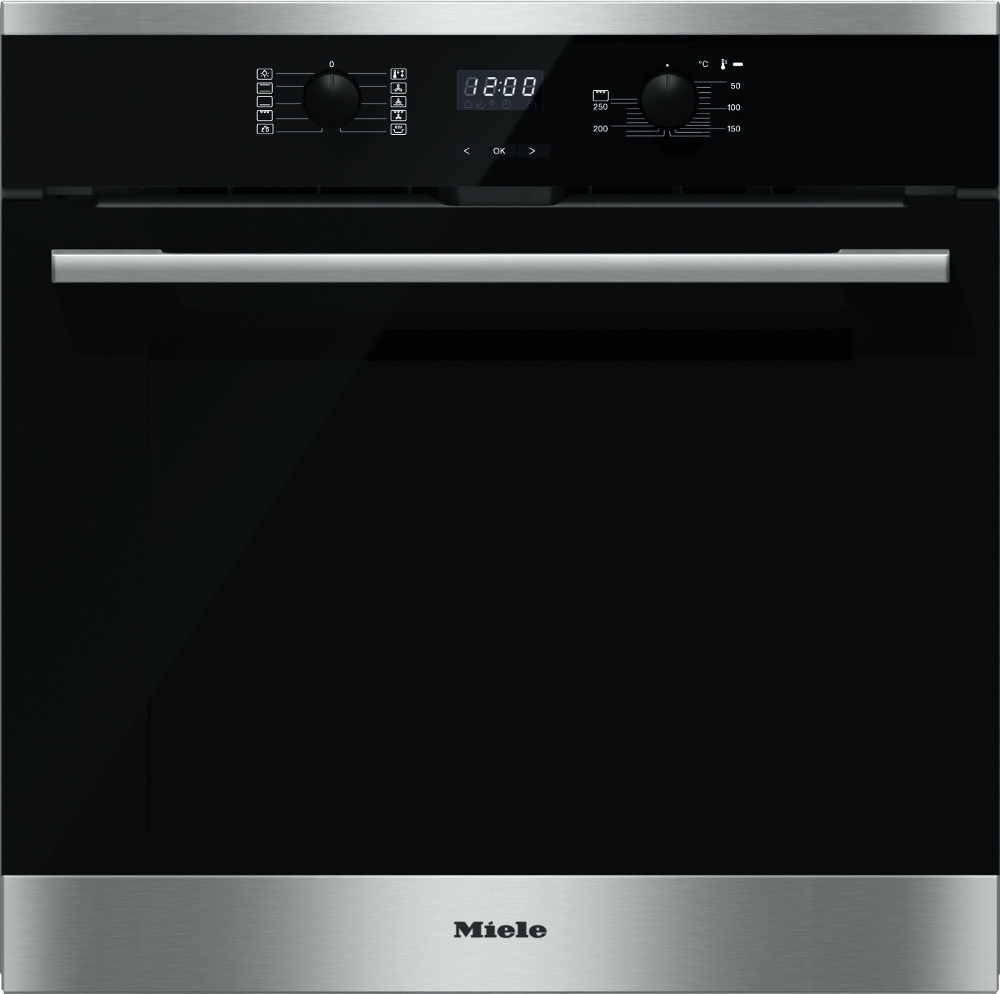Miele ContourLine H2566BP CleanSteel Single Built In Electric Oven