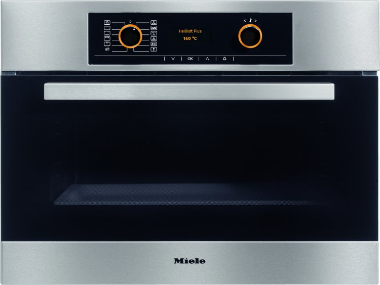 Miele H5061B CleanSteel Compact Oven