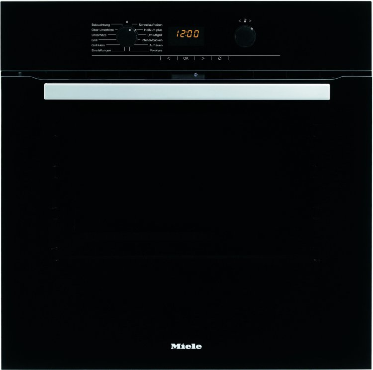 Miele H5240BP Black Single Built In Electric Oven Pyrolytic
