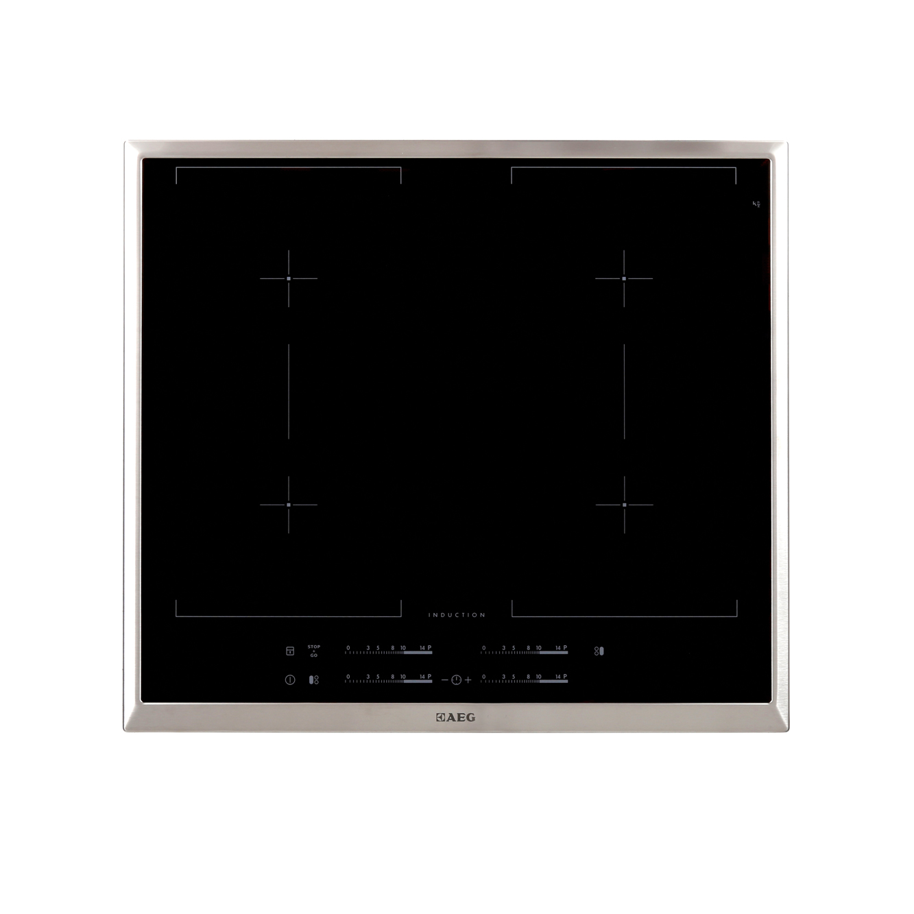 buy aeg hk654400xb induction hob stainless steel trim marks electrical. Black Bedroom Furniture Sets. Home Design Ideas