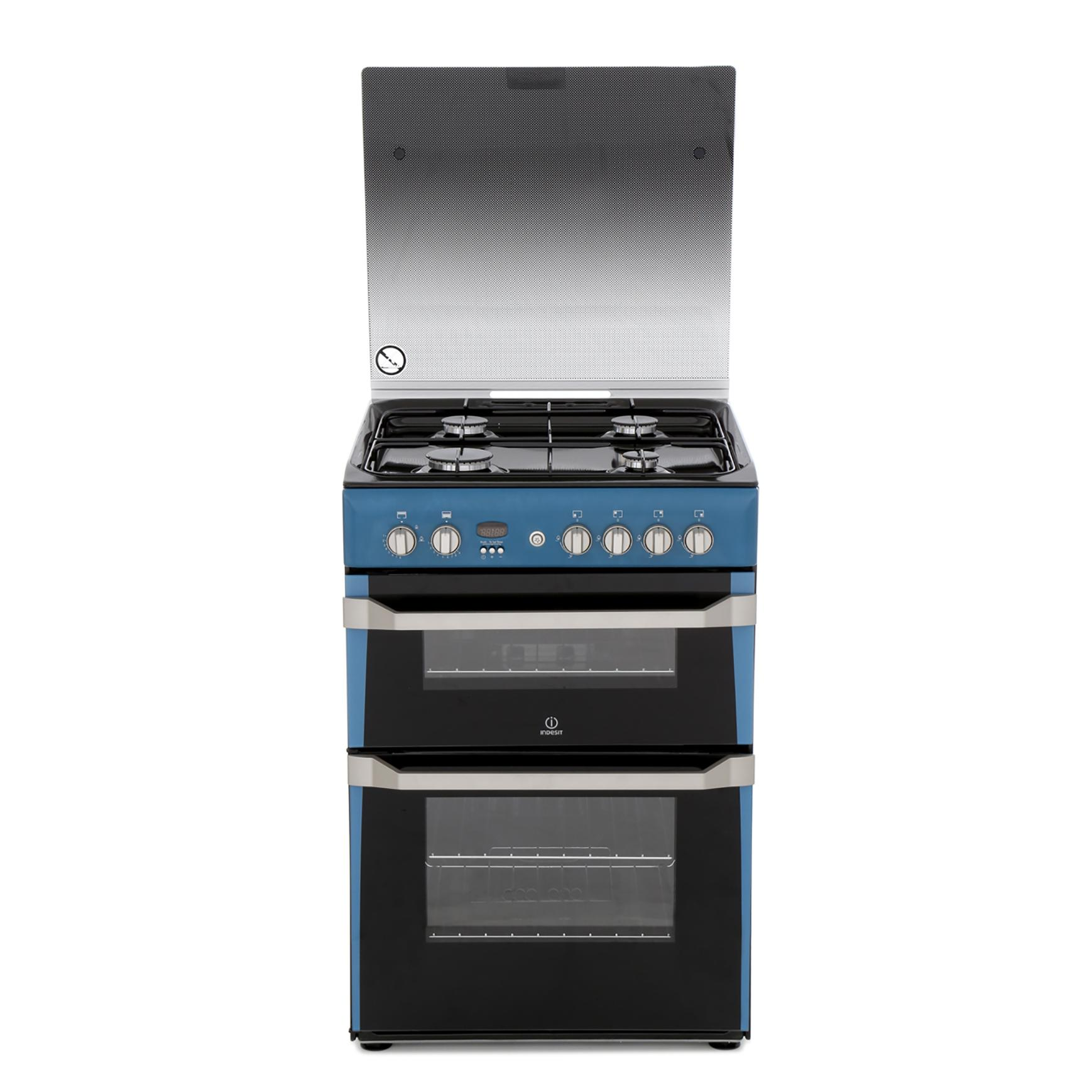 Indesit ID60G2N Gas Cooker with Double Oven