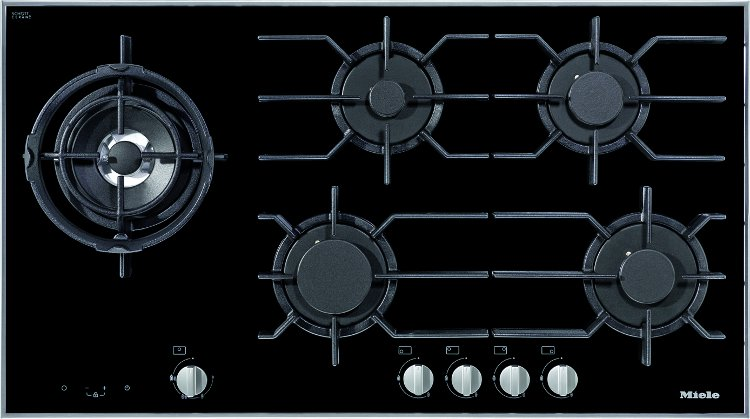 Buy miele km3054 stainless steel and glass 5 burner gas hob km3054ssglass - Gaziniere smeg 5 feux ...
