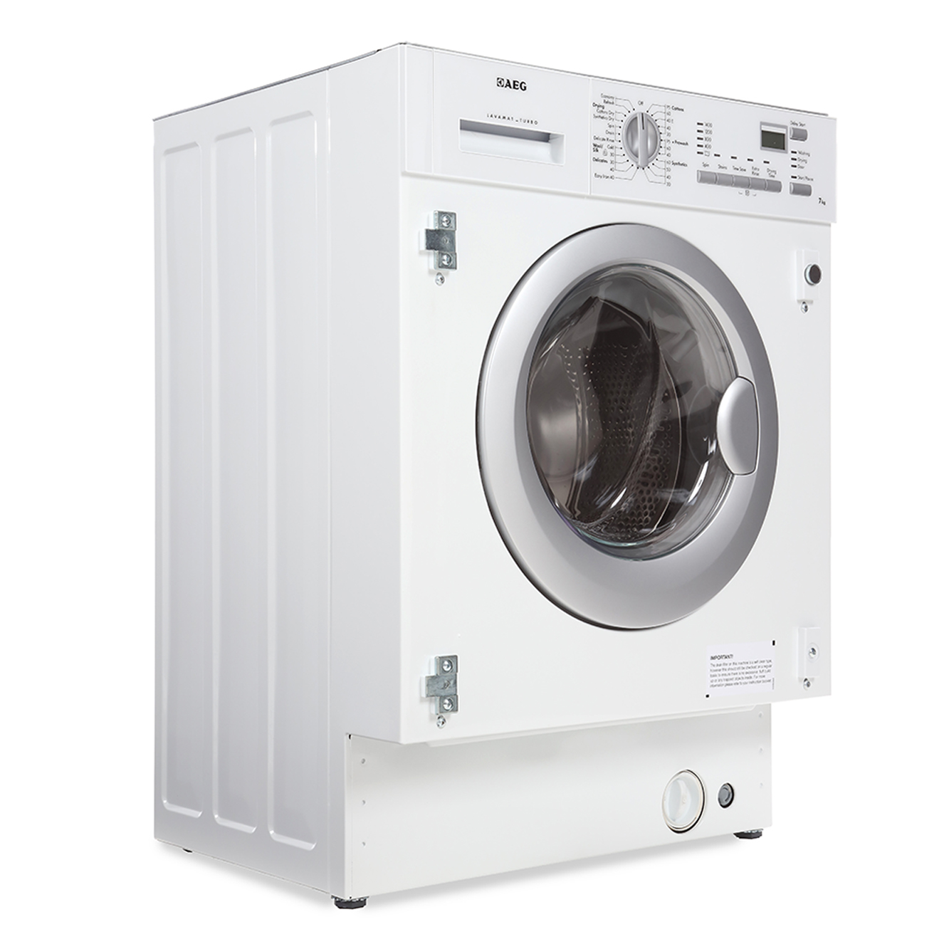 Washing Drying Machine Buy Aeg L61470wdbi Integrated Washer Dryer White Marks Electrical