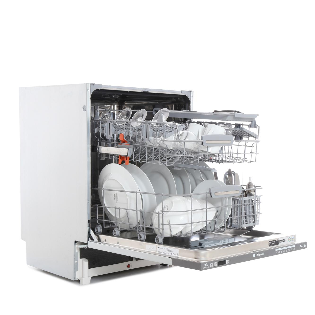 Small Dish Washer Hotpoint Ltf8m121c Built In Fully Integrated Dishwasher