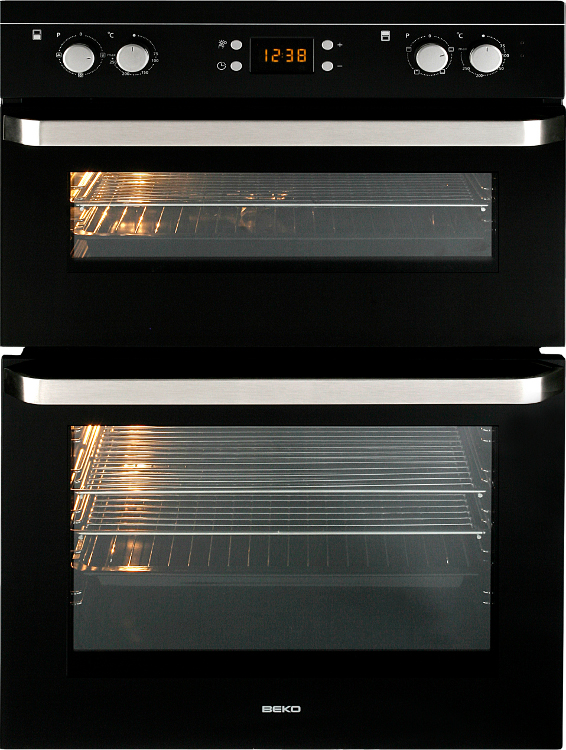 Beko Odf21300b Double Built In Electric Oven Black Buy