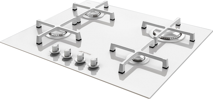 smeg linea pv164cb 4 burner gas hob pv164cb white. Black Bedroom Furniture Sets. Home Design Ideas