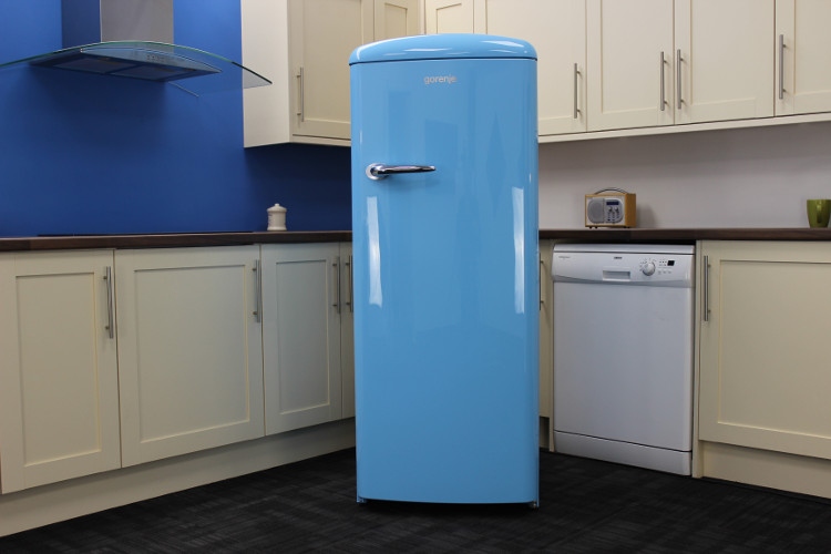 gorenje retro funky rb60299obl tall fridge with ice box rb60299obl baby blue buy online. Black Bedroom Furniture Sets. Home Design Ideas