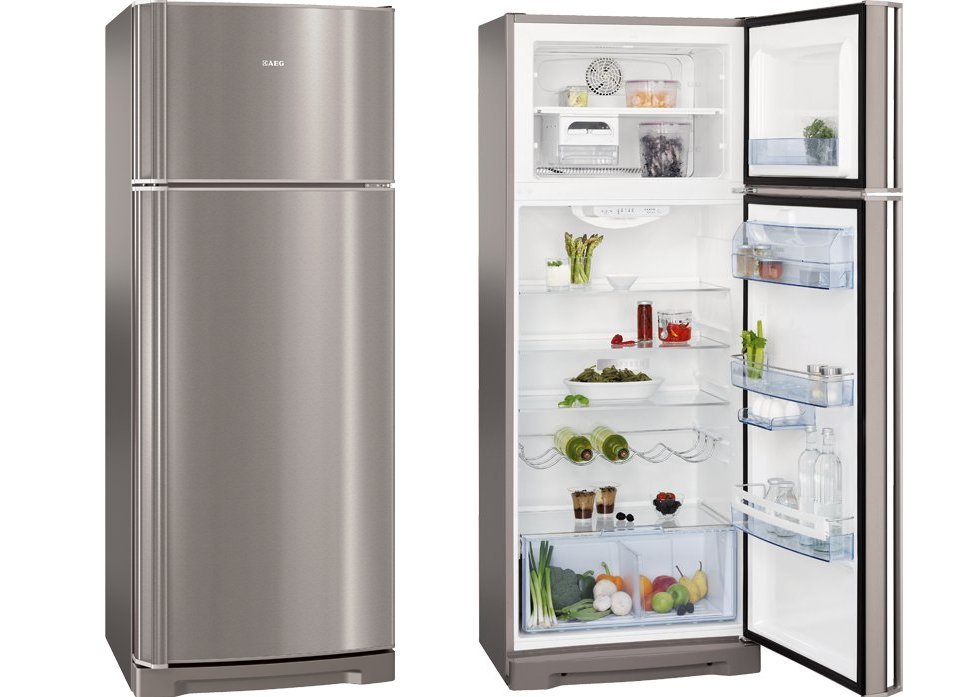 Fridge freezer large freezer small fridge