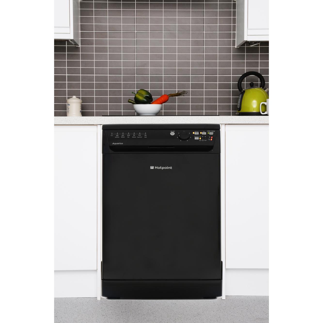 Slimline Kitchen Appliances Hotpoint Sial11010k Slimline Dishwasher Black Buy Online Today