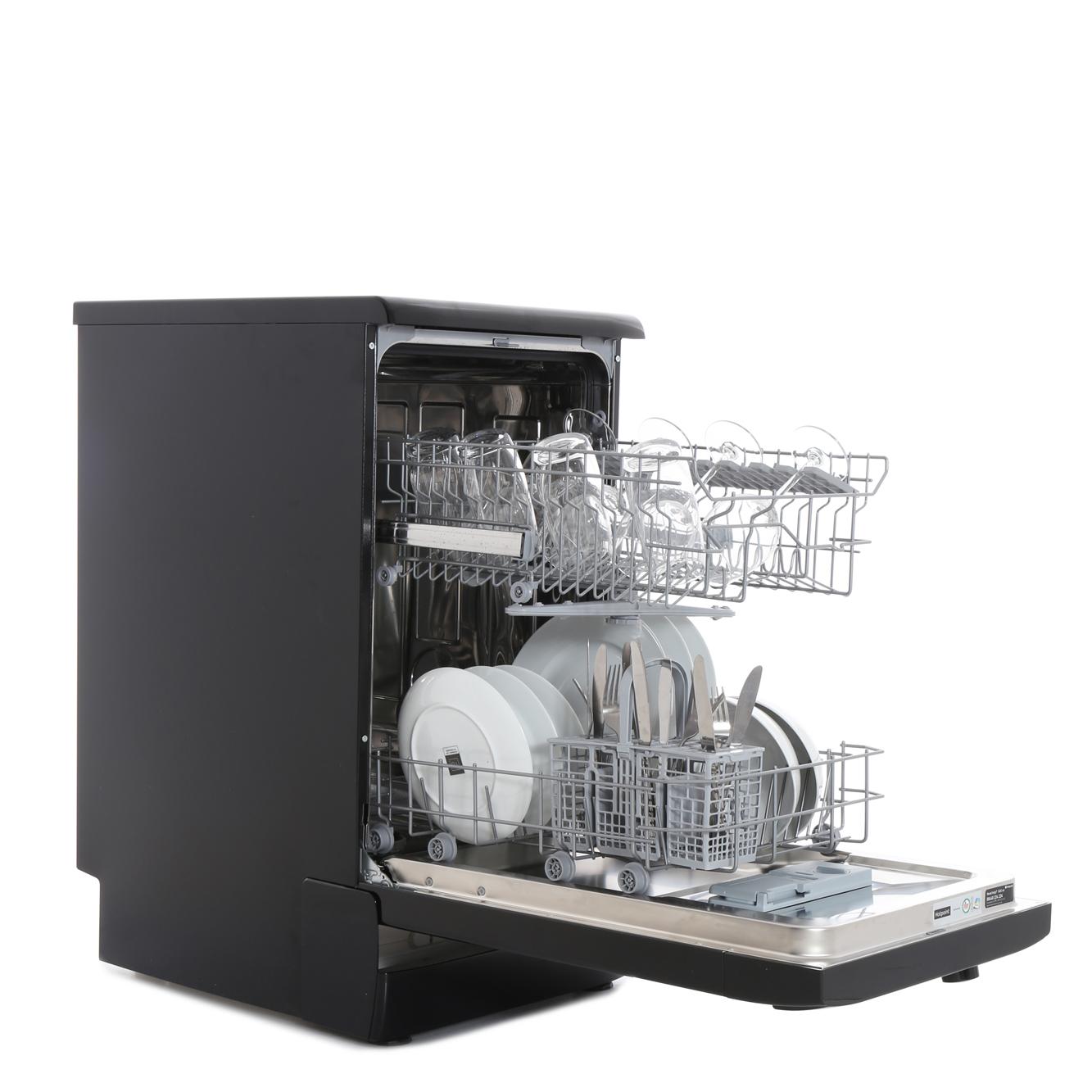 Small Dish Washer Hotpoint Sial11010k Slimline Dishwasher Black Buy Online Today