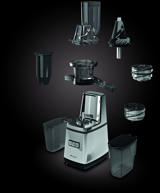 Hotpoint Slow Juicer 400 Watt Silver : Hotpoint SJ15XLUP0 Juicer - Inox - Buy Online Today - 365 Electrical